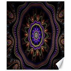 Fractal Vintage Colorful Decorative Canvas 8  X 10  by Celenk
