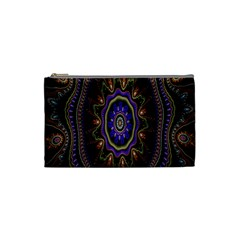 Fractal Vintage Colorful Decorative Cosmetic Bag (small)  by Celenk