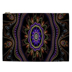 Fractal Vintage Colorful Decorative Cosmetic Bag (xxl)  by Celenk