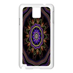 Fractal Vintage Colorful Decorative Samsung Galaxy Note 3 N9005 Case (white) by Celenk