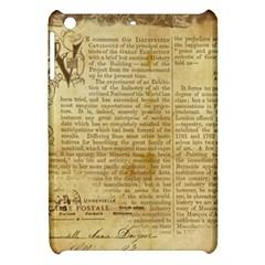 Vintage Background Paper Apple Ipad Mini Hardshell Case by Celenk