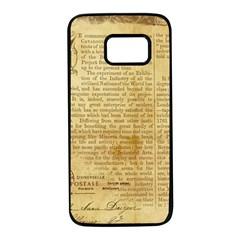 Vintage Background Paper Samsung Galaxy S7 Black Seamless Case