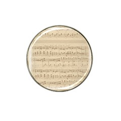 Vintage Beige Music Notes Hat Clip Ball Marker (4 Pack) by Celenk