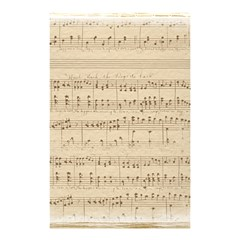 Vintage Beige Music Notes Shower Curtain 48  X 72  (small)  by Celenk