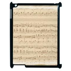 Vintage Beige Music Notes Apple Ipad 2 Case (black) by Celenk