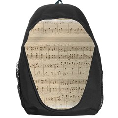 Vintage Beige Music Notes Backpack Bag by Celenk
