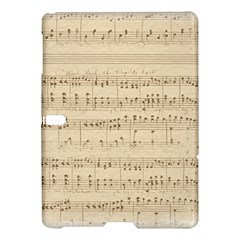 Vintage Beige Music Notes Samsung Galaxy Tab S (10 5 ) Hardshell Case  by Celenk