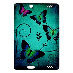 Texture Butterflies Background Amazon Kindle Fire Hd (2013) Hardshell Case by Celenk