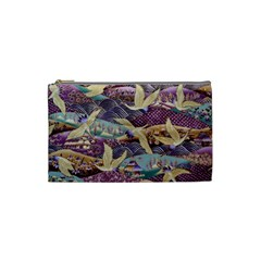 Textile Fabric Cloth Pattern Cosmetic Bag (small)  by Celenk