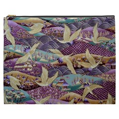 Textile Fabric Cloth Pattern Cosmetic Bag (xxxl)  by Celenk