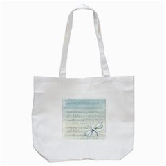 Vintage Blue Music Notes Tote Bag (white)