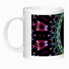 Kaleidoscope Shape Abstract Design Night Luminous Mugs by Celenk