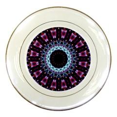 Kaleidoscope Shape Abstract Design Porcelain Plates by Celenk