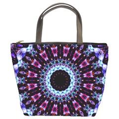 Kaleidoscope Shape Abstract Design Bucket Bags by Celenk