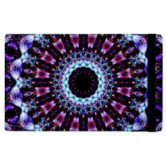 Kaleidoscope Shape Abstract Design Apple Ipad 3/4 Flip Case by Celenk