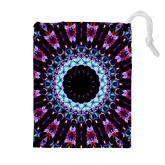 Kaleidoscope Shape Abstract Design Drawstring Pouches (extra Large) by Celenk
