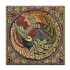 Wings Feathers Cubism Mosaic Tile Coasters by Celenk