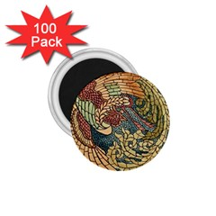Wings Feathers Cubism Mosaic 1 75  Magnets (100 Pack)  by Celenk