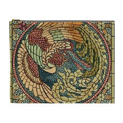 Wings Feathers Cubism Mosaic Cosmetic Bag (xl) by Celenk