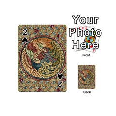 Wings Feathers Cubism Mosaic Playing Cards 54 (mini)  by Celenk