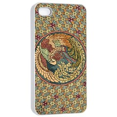 Wings Feathers Cubism Mosaic Apple Iphone 4/4s Seamless Case (white) by Celenk