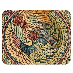 Wings Feathers Cubism Mosaic Double Sided Flano Blanket (medium)  by Celenk