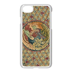 Wings Feathers Cubism Mosaic Apple Iphone 7 Seamless Case (white) by Celenk
