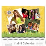 Calendar - Family Holidays- any theme - Wall Calendar 11  x 8.5  (12-Months)