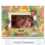 Love/Family, turtle- 18 month photo calendar - Wall Calendar 11  x 8.5  (18 Months)