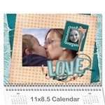 Love/Cuddle Bunny/Baby Cutie-Photo Calendar (12 months) - Wall Calendar 11  x 8.5  (12-Months)