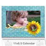 Sunflowers/Family-Photo Calendar (12 months) - Wall Calendar 11  x 8.5  (12-Months)