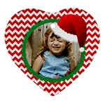 Santa Hat chevron ornament - template - Ornament (Heart)