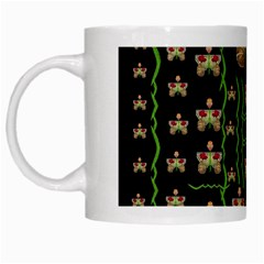 Roses In The Soft Hands Makes A Smile Pop Art White Mugs by pepitasart