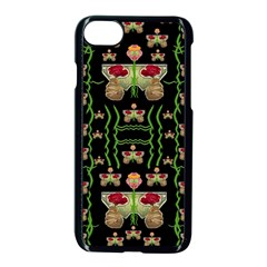 Roses In The Soft Hands Makes A Smile Pop Art Apple Iphone 8 Seamless Case (black) by pepitasart