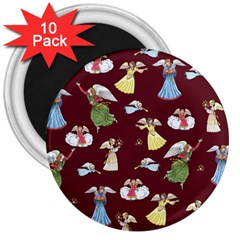Christmas Angels  3  Magnets (10 Pack)  by Valentinaart