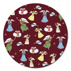 Christmas Angels  Magnet 5  (round) by Valentinaart