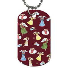Christmas Angels  Dog Tag (two Sides) by Valentinaart