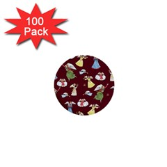 Christmas Angels  1  Mini Buttons (100 Pack)  by Valentinaart