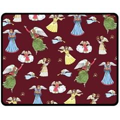 Christmas Angels  Fleece Blanket (medium)  by Valentinaart