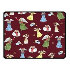 Christmas Angels  Double Sided Fleece Blanket (small)  by Valentinaart
