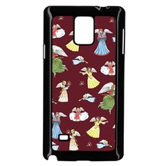 Christmas Angels  Samsung Galaxy Note 4 Case (black) by Valentinaart