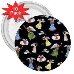 Christmas Angels  3  Buttons (10 Pack)  by Valentinaart