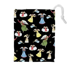 Christmas Angels  Drawstring Pouches (extra Large) by Valentinaart