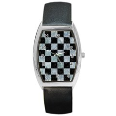 Square1 Black Marble & Ice Crystals Barrel Style Metal Watch by trendistuff