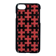 Puzzle1 Black Marble & Red Denim Apple Iphone 8 Seamless Case (black) by trendistuff