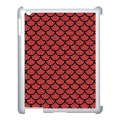 Scales1 Black Marble & Red Denim Apple Ipad 3/4 Case (white) by trendistuff