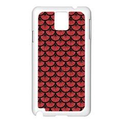 Scales3 Black Marble & Red Denim Samsung Galaxy Note 3 N9005 Case (white) by trendistuff