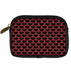 Scales3 Black Marble & Red Denim (r) Digital Camera Cases by trendistuff