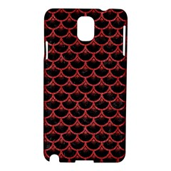 Scales3 Black Marble & Red Denim (r) Samsung Galaxy Note 3 N9005 Hardshell Case by trendistuff