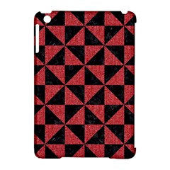 Triangle1 Black Marble & Red Denim Apple Ipad Mini Hardshell Case (compatible With Smart Cover) by trendistuff